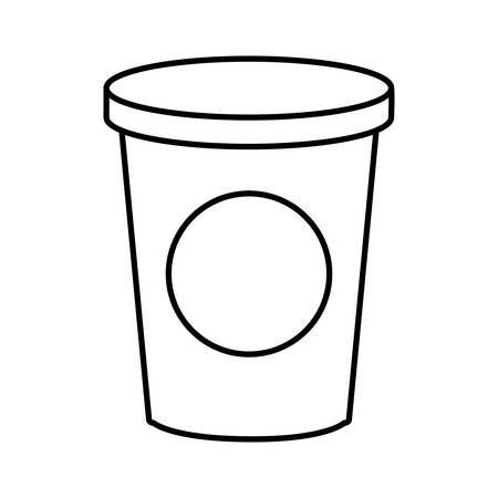 A drink cup icon over white background vector illustration. Illustration