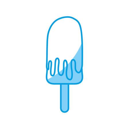 sorbet: Ice cream bar icon over white background vector illustration.