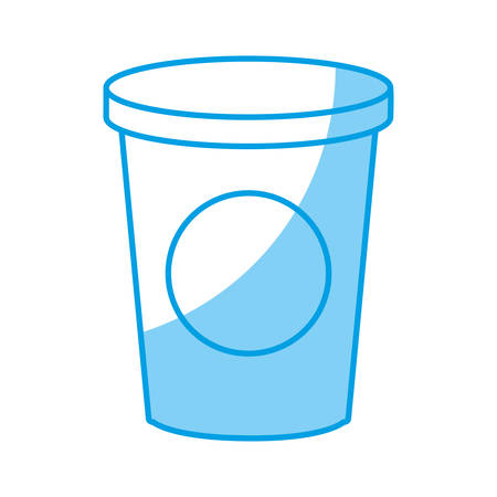 Drink cup icon over white background vector illustration Illustration
