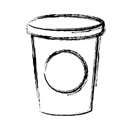 drink cup icon over white background vector illustration