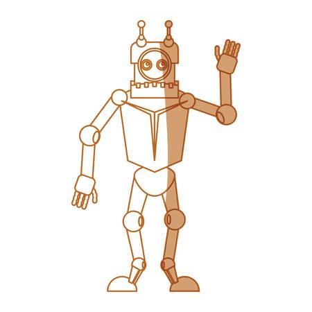 robot toy funny icon vector illustration graphic design Illustration