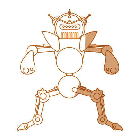 robot toy funny icon vector illustration graphic design Illustration