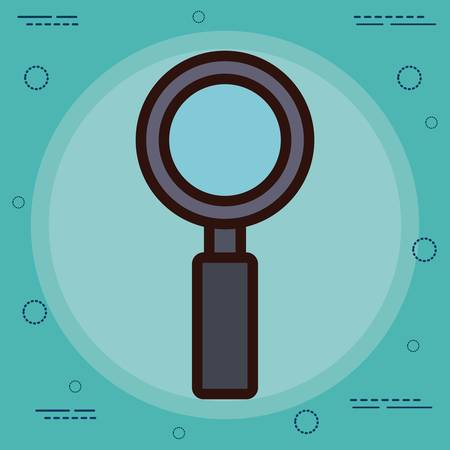 inspector: lupe icon over blue background colorful design vector illustration