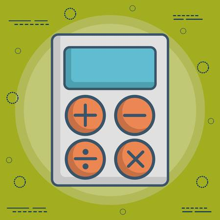 calculator icon over green background colorful design vector illustration