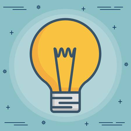 light bulb icon over blue background colorful design vector illustration