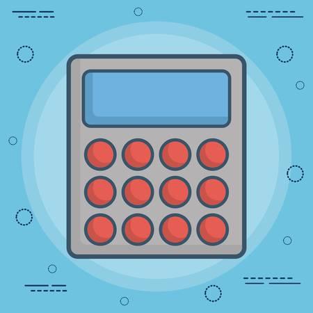 calculator icon over blue background colorful design vector illustration Illustration