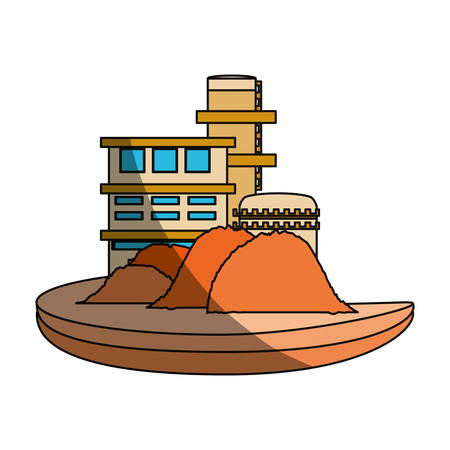 manufactory: isolated sand factory building icon vector illustration graphic design