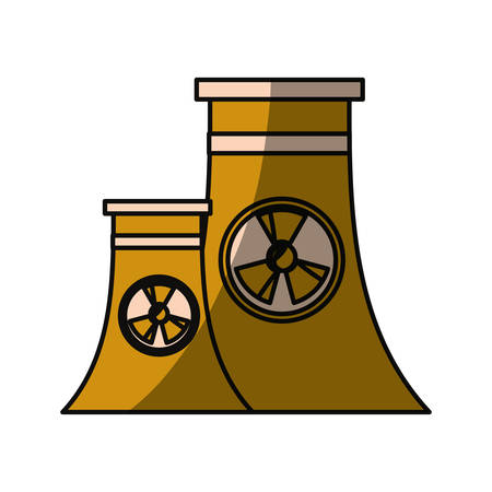 manufactory: isolated nuclear factory icon vector illustration graphic design