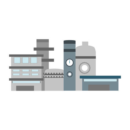 heavy construction: isolated factory building icon vector illustration graphic design Illustration