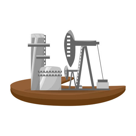 heavy construction: isolated fuel factory icon vector illustration graphic design Illustration