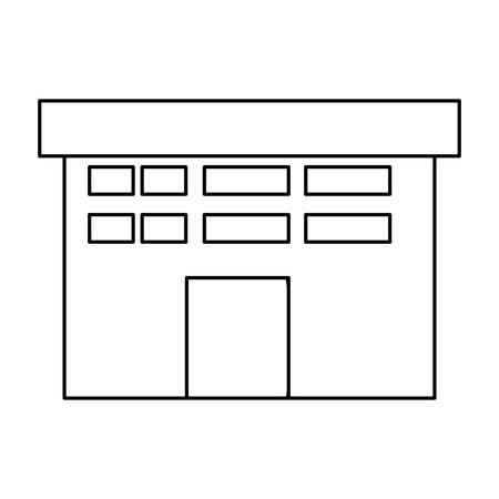 manufactory: isolated factory building icon vector illustration graphic design Illustration