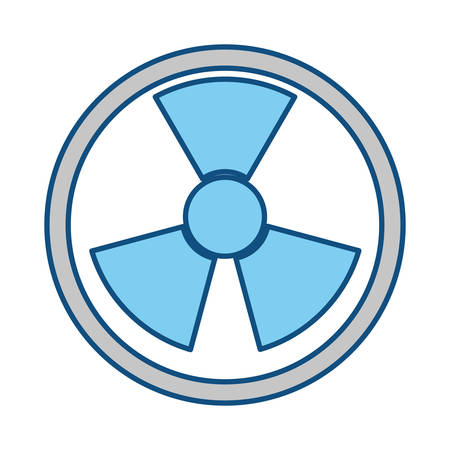 atomic bomb: isolated nuclear symbol icon vector illustration graphic design