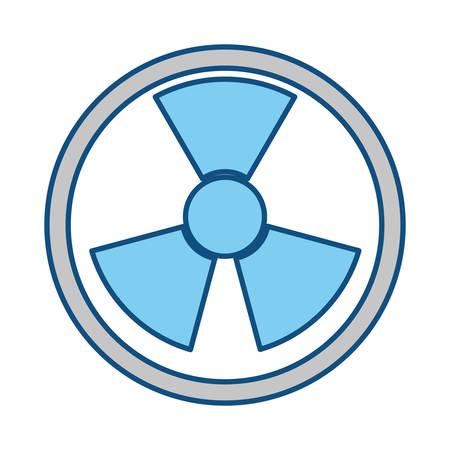bombe atomique: symbole nucléaire isolé icône illustration vectorielle design graphique