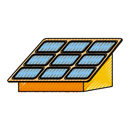 isolated solar panel icon vector illustration graphic design