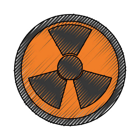 isolated nuclear symbol icon vector illustration graphic design