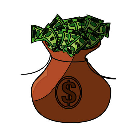 Money bag symbol icon vector illustration graphic design