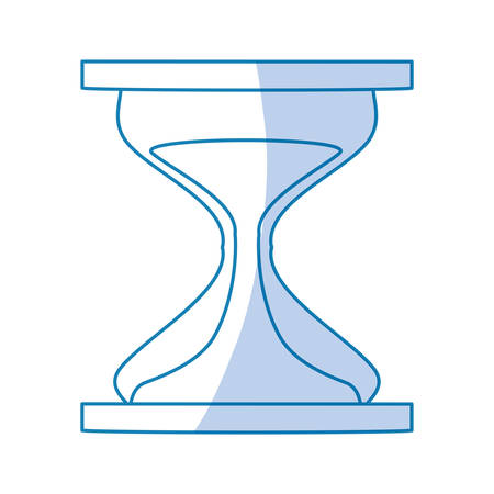 Hourglass sand timer icon vector illustration graphic design