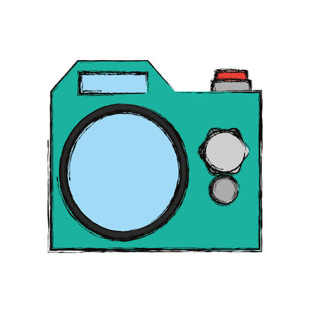 Photographic camera isolated icon vector illustration graphic design