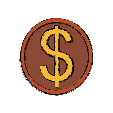 Coins money isolated icon vector illustration graphic design