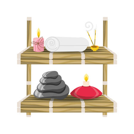 Spa supplies concept icon vector illustration graphic design Illustration