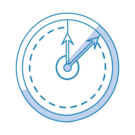 interval: Wall clock isolated icon vector illustration graphic design