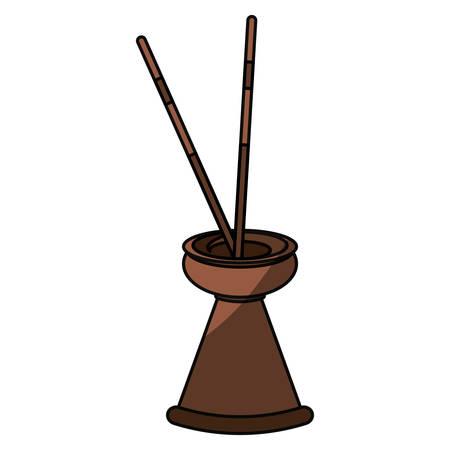wood burner: Spa incense aroma teraphy icon vector illustration graphic design Illustration