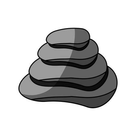 masseur: Spa stones isolated icon vector illustration graphic design Illustration
