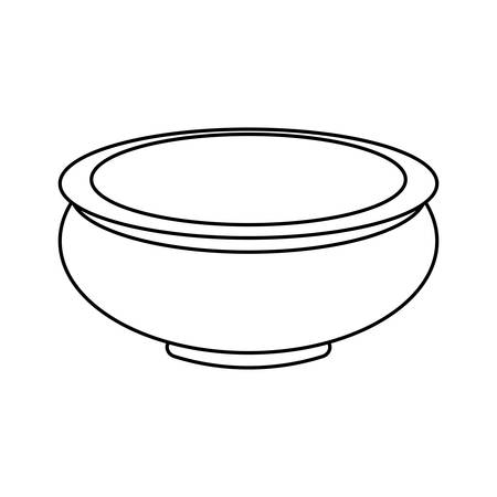 earthenware: Clay pot isolated icon vector illustration graphic design