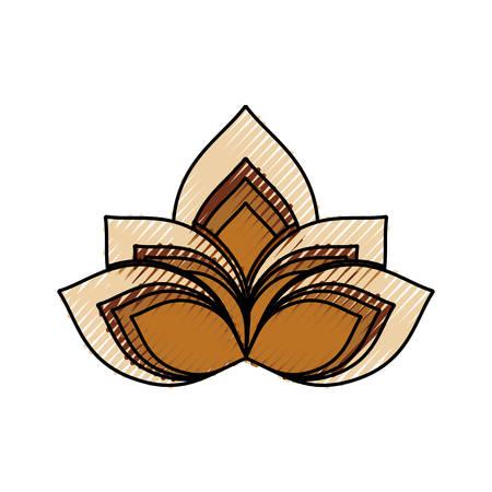 ilustration: Lotus flower symbol icon vector illustration graphic design
