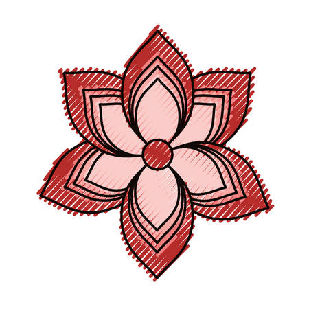 Spa flower isolated icon vector illustration graphic design