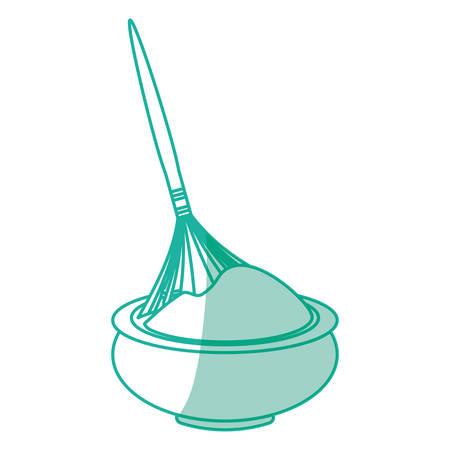 ollas de barro: Chocolate teraphy spa icon vector illustration graphic design