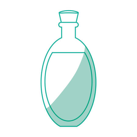 masseur: Coconut oil glass icon vector illustration graphic design