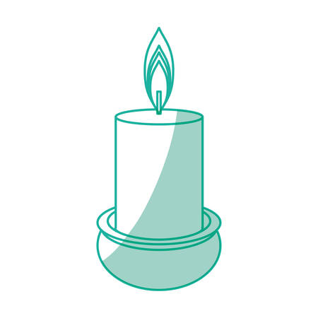 Spa candle isolated icon vector illustration graphic design Illustration