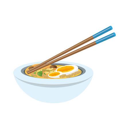 Delicious ramen soup icon vector illustration graphic design Illustration