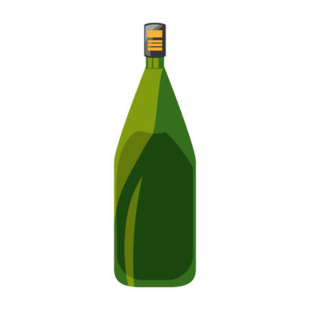 Wine bottle isolated icon vector illustration graphic design
