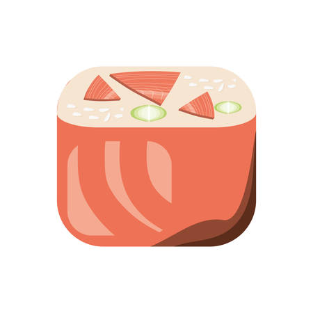 Delicious sushi food icon vector illustration graphic design Illustration
