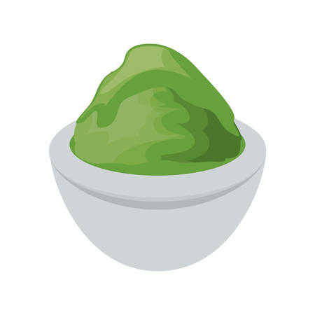 Wasabi spicy food icon vector illustration graphic design