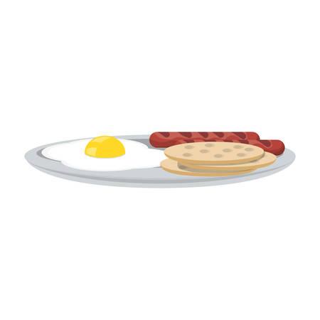 Delicious restaurant food icon vector illustration graphic design