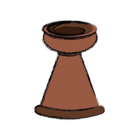 Clay pot isolated icon vector illustration graphic design