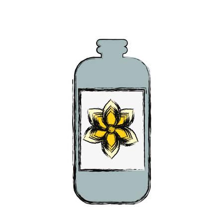 masseur: Cream bottle isolated icon vector illustration graphic design Illustration