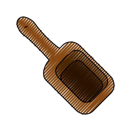 Wooden spatula for massage icon vector illustration graphic design