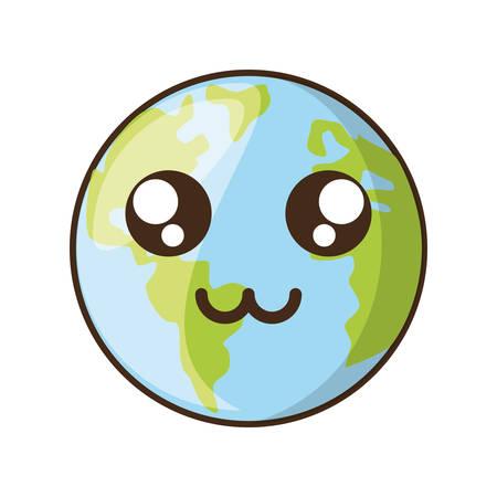 Planeta earh icono de dibujos animados ilustración vectorial diseño gráfico Foto de archivo - 81513874