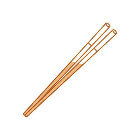 Food chopsticks isolated icon vector illustration graphic design Illustration