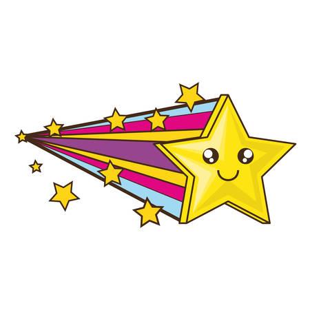 Cute star cartoon icon vector illustration graphic design 向量圖像