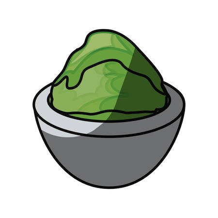 Wasabi scharfes Essen Symbol Vektor-Illustration Grafik-Design Vektorgrafik