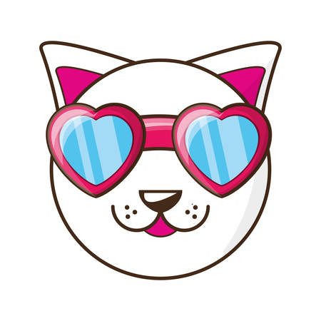 Cute cat cartoon icon vector illustration graphic design Illustration