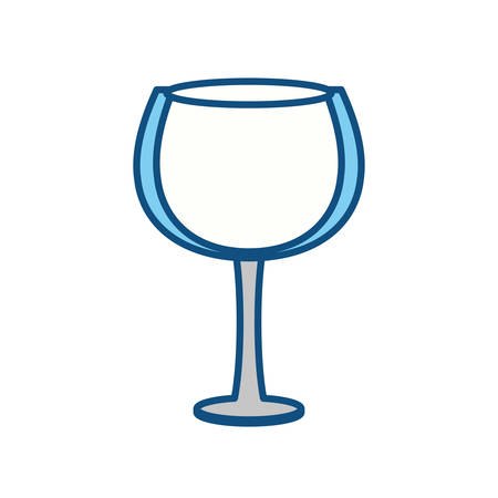 Wine glass cup icon vector illustration graphic design