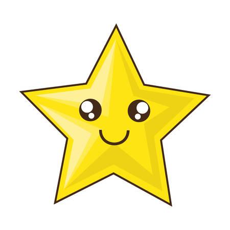 Cute star cartoon icon vector illustration graphic design Illustration