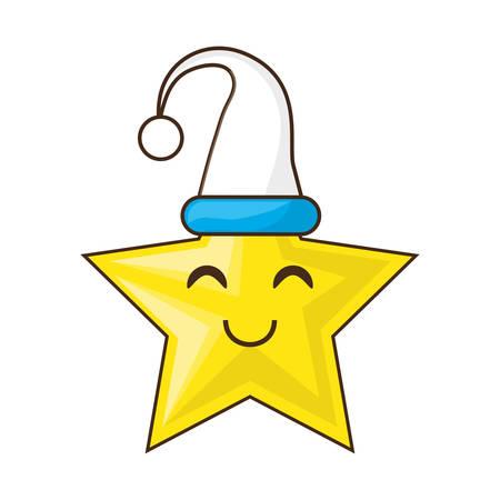 nap: Cute star cartoon icon vector illustration graphic design Illustration