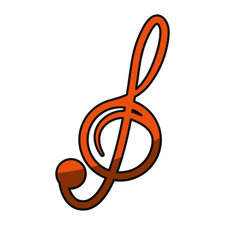 Music note isolated icon vector illustration graphic design Illustration
